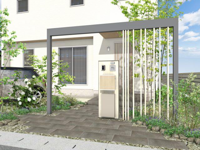 門まわり(フレーム付門柱) ホームヤードルーフプラン22